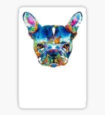 Colorful French Bulldog Dog Art By Sharon Cummings Sticker
