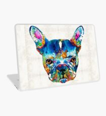 Colorful French Bulldog Dog Art By Sharon Cummings Laptop Skin