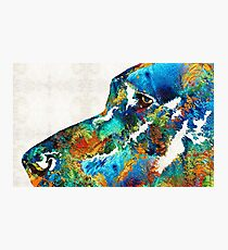 Colorful Dog Art - Loving Eyes - By Sharon Cummings  Photographic Print