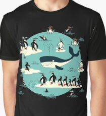 Whales, Penguins and other friends Graphic T-Shirt