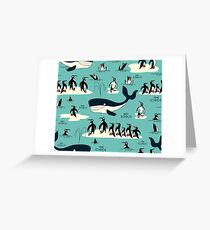 Whales, Penguins and other friends Greeting Card