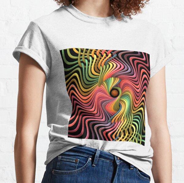 Trippy Helix Mandala Classic T-Shirt