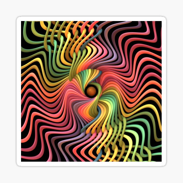 Trippy Helix Mandala Sticker