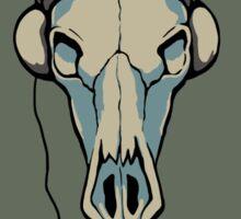 Skull likes music too Sticker