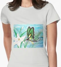 Butterflies and Lilys Womens Fitted T-Shirt