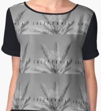 California BLACK Chiffon Top