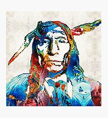 Native American Art - Warrior - By Sharon Cummings Photographic Print