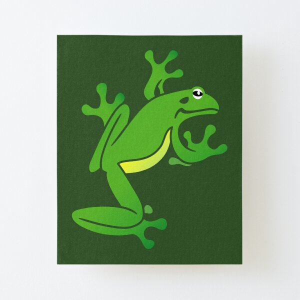 Green Tree Frog. Iconic Australian Animal. Canvas Mounted Print