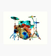The Drums - Music Art By Sharon Cummings Art Print