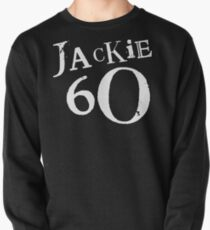 Jackie 60 Classic White Logo on Black Gear Pullover Sweatshirt