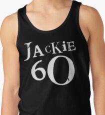 Jackie 60 Classic White Logo auf schwarzem Zahnrad Tanktop für Männer