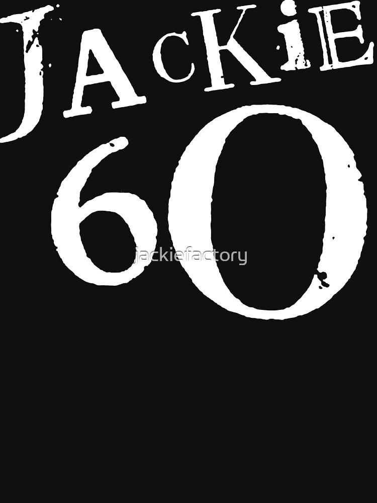 Jackie 60 Classic White Logo on Black Gear by jackiefactory
