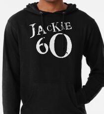 Jackie 60 Classic White Logo auf schwarzem Zahnrad Leichter Hoodie