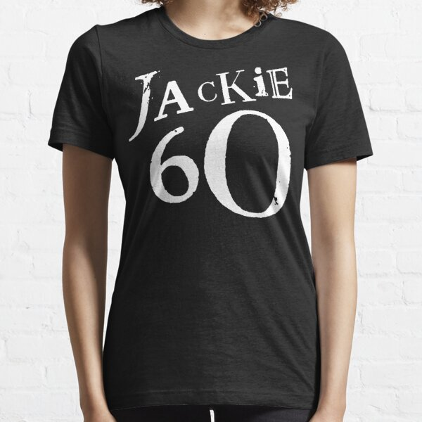 Jackie 60 Classic White Logo on Black Gear Essential T-Shirt
