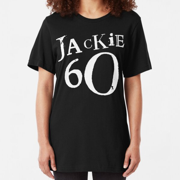 Jackie 60 Classic White Logo on Black Gear Slim Fit T-Shirt