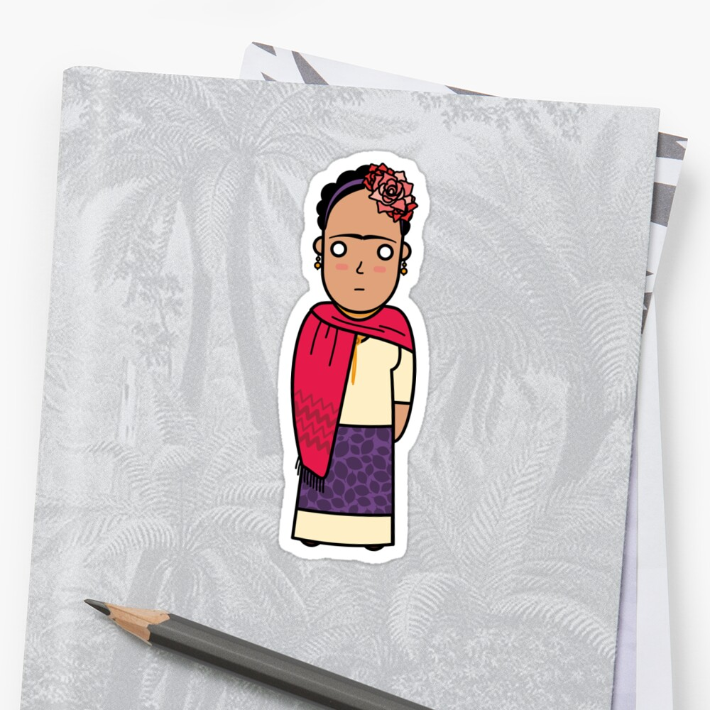 Quot Guru Frida Khalo Quot Stickers By Gurustore Redbubble