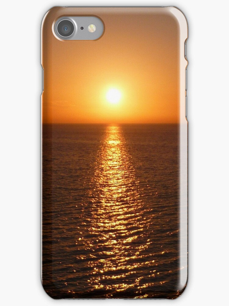Ocean Sunset - iPhone Case by Lucinda Walter