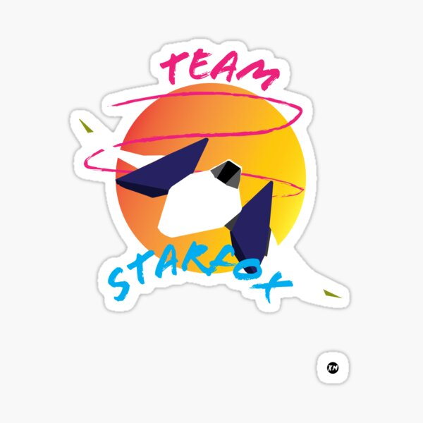 Retro StarFox Sticker