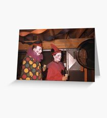 1950s Found Photo Halloween Card - Clowns Greeting Card