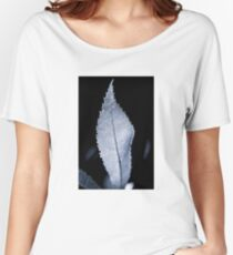B/W Backlit Leaf Women's Relaxed Fit T-Shirt