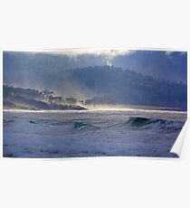 SCENES & SCENERY ~ GREEN ~ Autumn Mist Sweeping Over the Landscape by tasmanianartist Poster