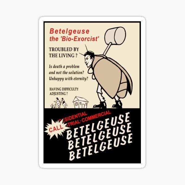 Beetlejuice Anuncio Pegatina