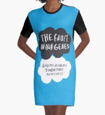 The Fault In Our Genes, Ehlers Danlos Syndrome Awareness Graphic T-Shirt Dress
