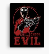 Dr. Horrible's Evil School of Evil Canvas Print