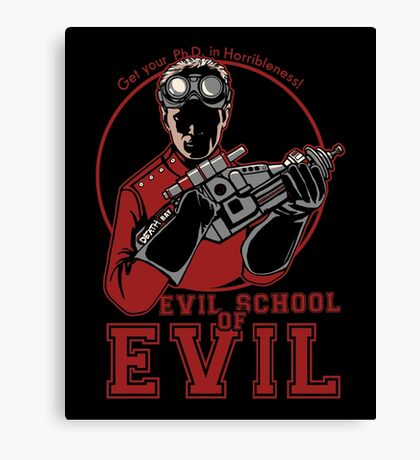 Dr. Horrible's Evil School of Evil Canvas Print