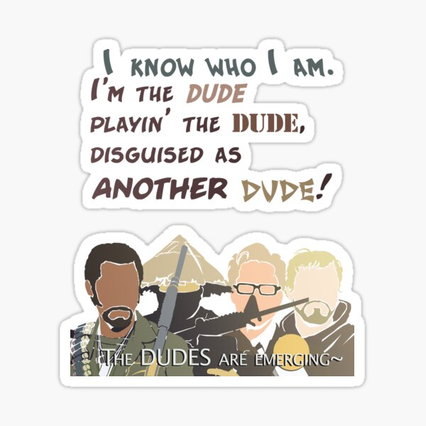 Quotes and quips - the dudes are emerging~ Sticker