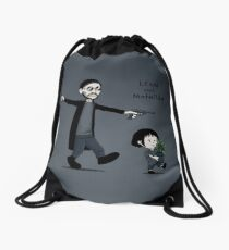Leon and Mathilda Drawstring Bag