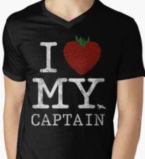 I Love My Captain Mens V-Neck T-Shirt