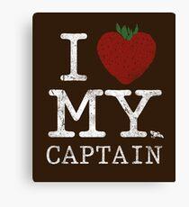 I Love My Captain Canvas Print