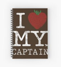 I Love My Captain Spiral Notebook