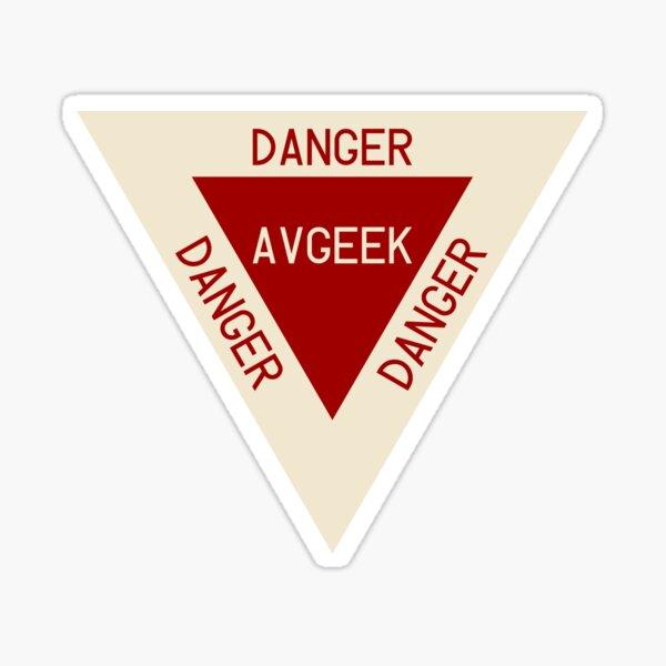 AVGEEK Warning Sticker