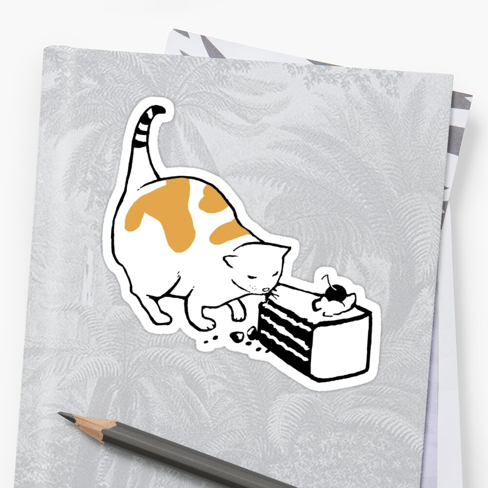 Science Cat STICKER by tyna