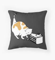 Science Cat STICKER Throw Pillow