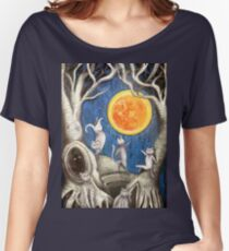 they dance under the light of the moon paper cut Women's Relaxed Fit T-Shirt