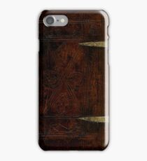 Antique Leather Bound And Brass Design iPhone Case/Skin