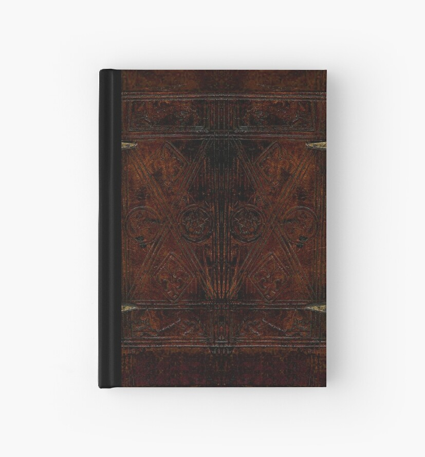 Antique Leather Bound And Brass Design by JoolyA