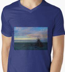 Beach Sculpture Men's V-Neck T-Shirt
