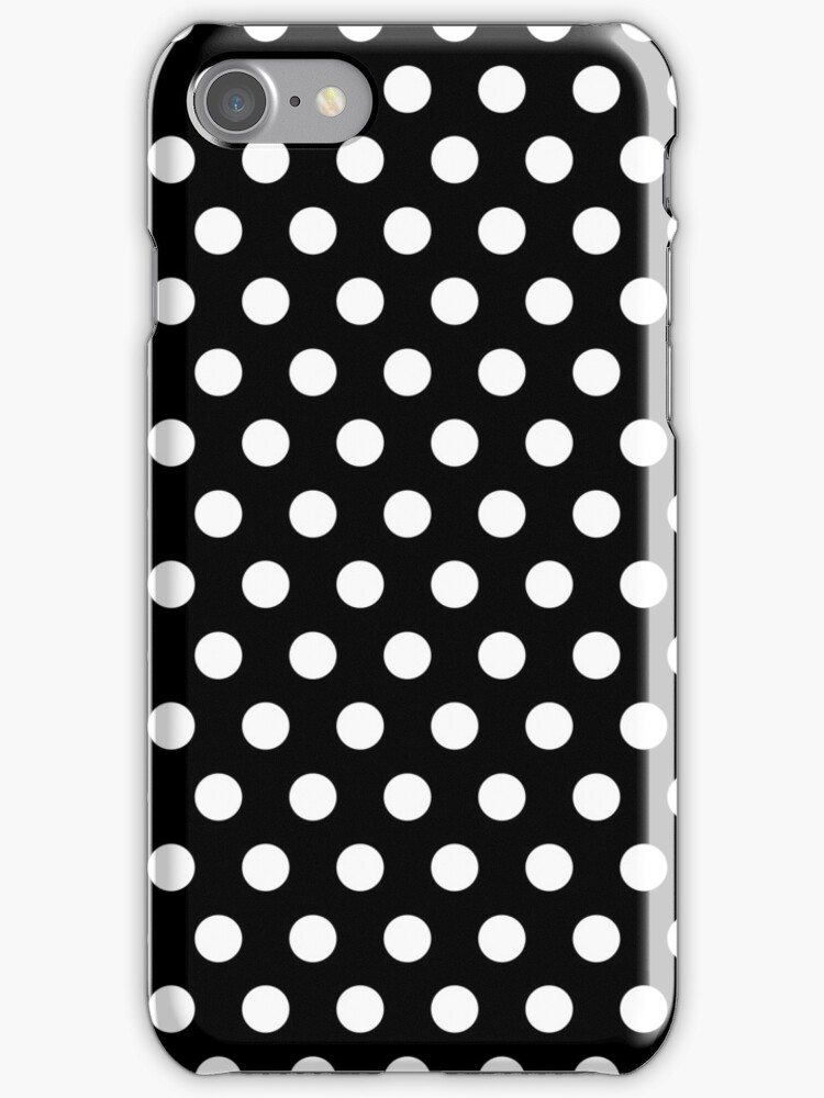 Polkadots Black and White by MEDUSA GraphicART