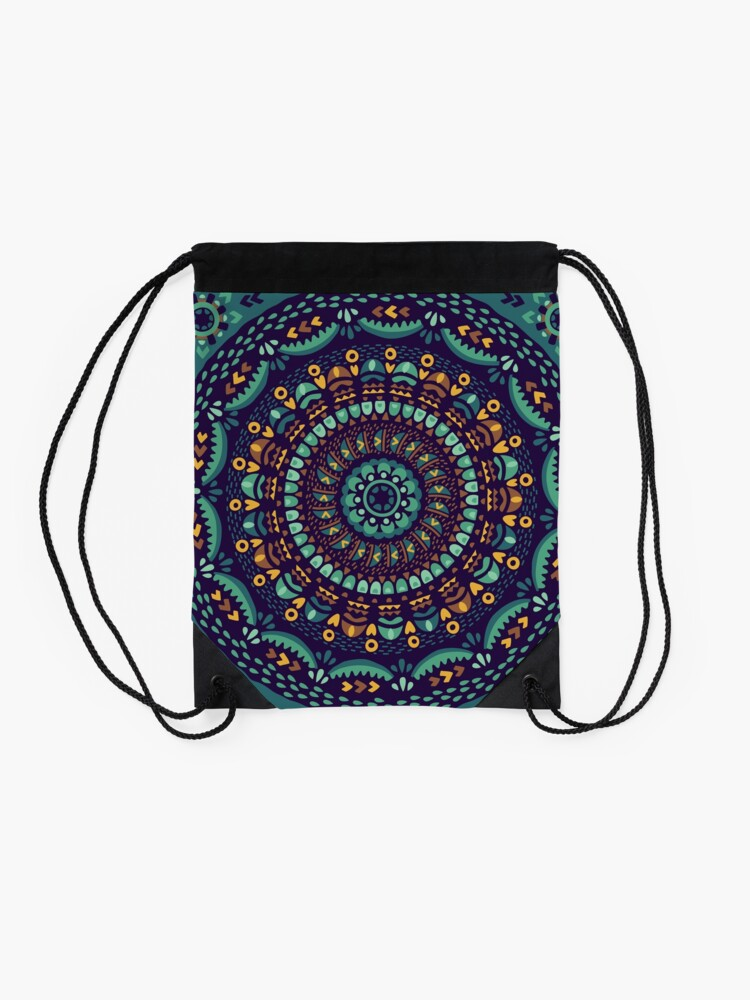 Alternate view of Ethnic mandala Drawstring Bag