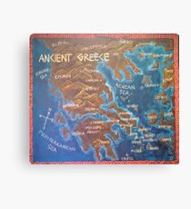 Map of Ancient Greece Canvas Print