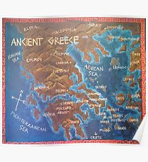 Map of Ancient Greece Poster