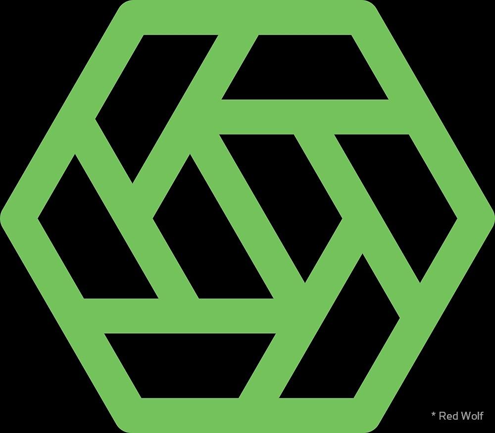 Geometric Pattern: Aperture: Black/Green by * Red Wolf