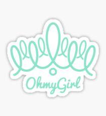 Oh My Girl logo - Teal Sticker
