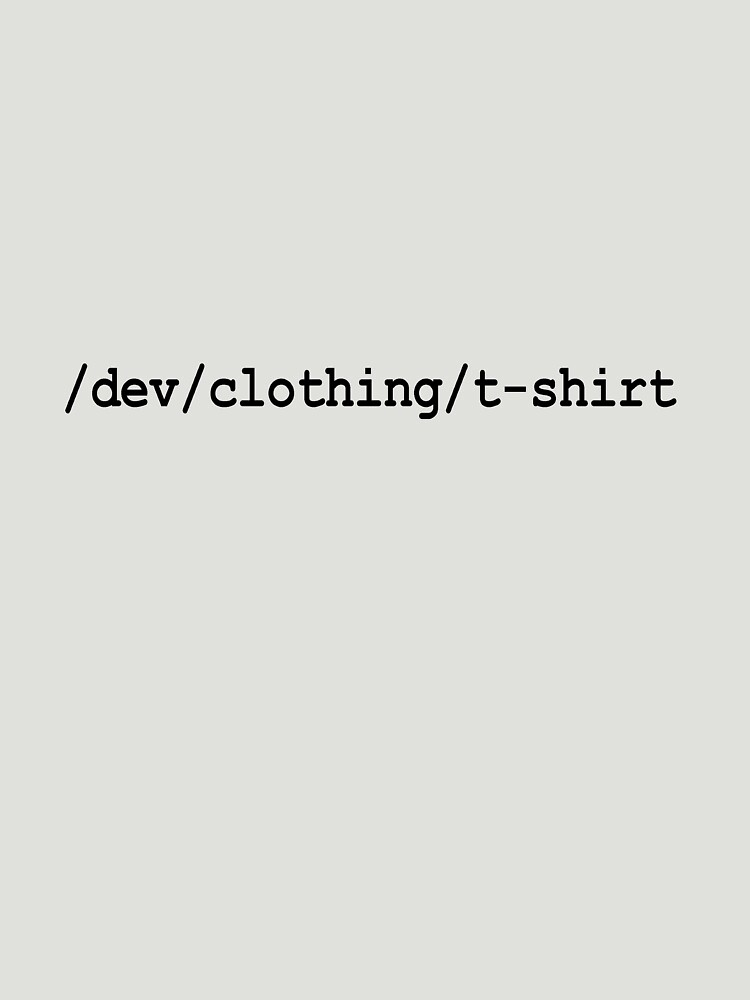 /dev/clothing/t-shirt by martybugs