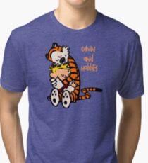 Calvin and Hobbes Comic Tri-blend T-Shirt