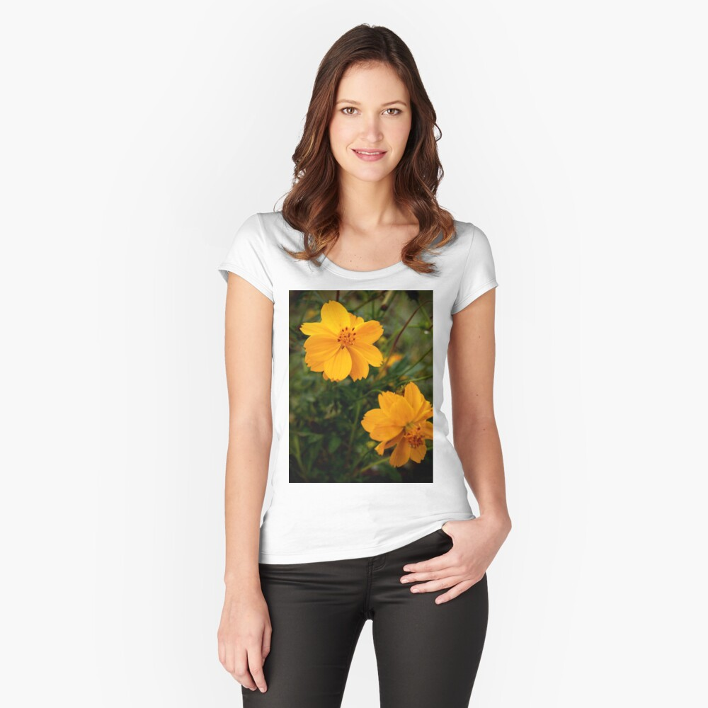 Golden Coreopsis Fitted Scoop T-Shirt